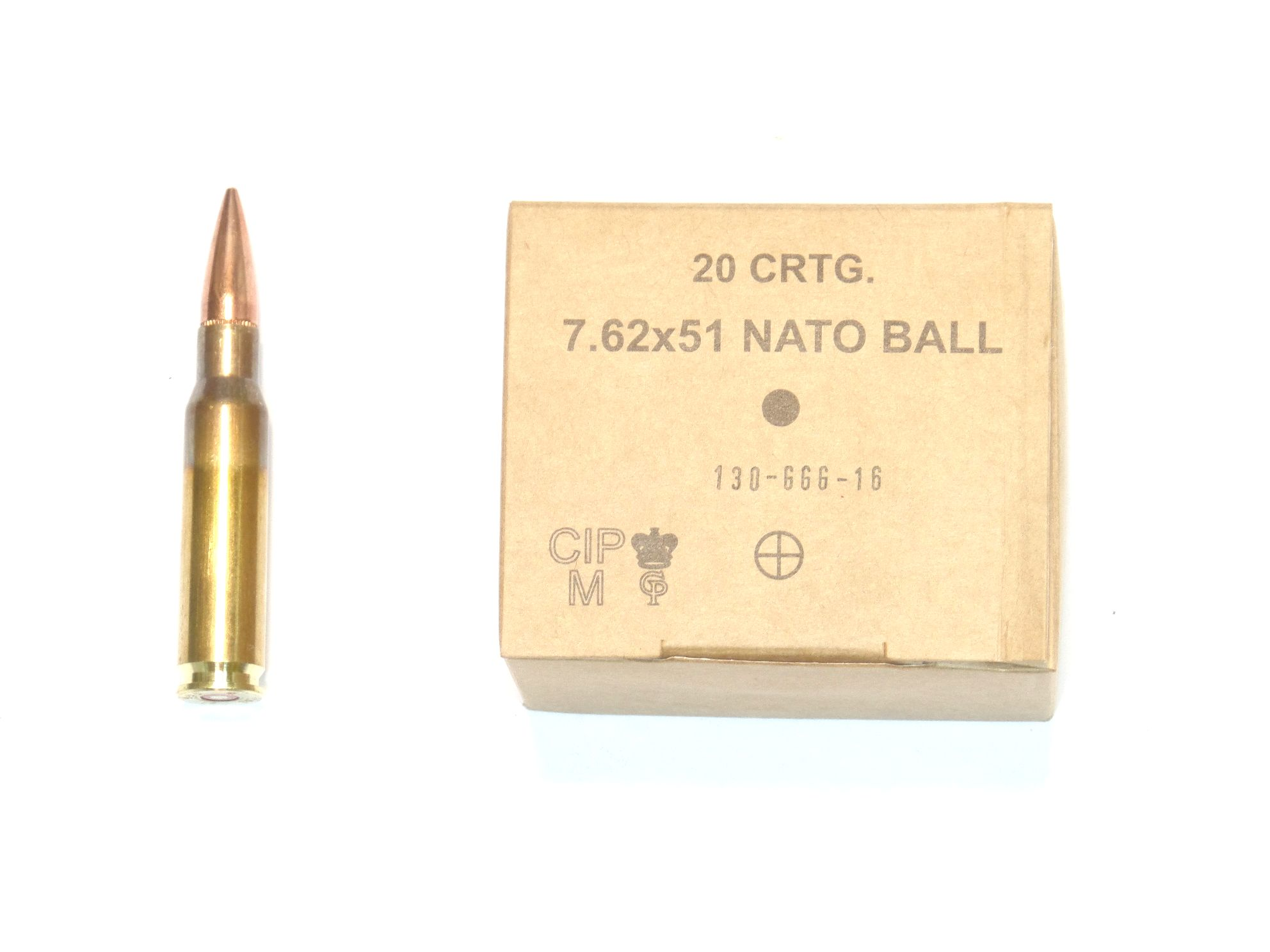 Munitions x20 calibre 7.62x51 (.308Winchester)