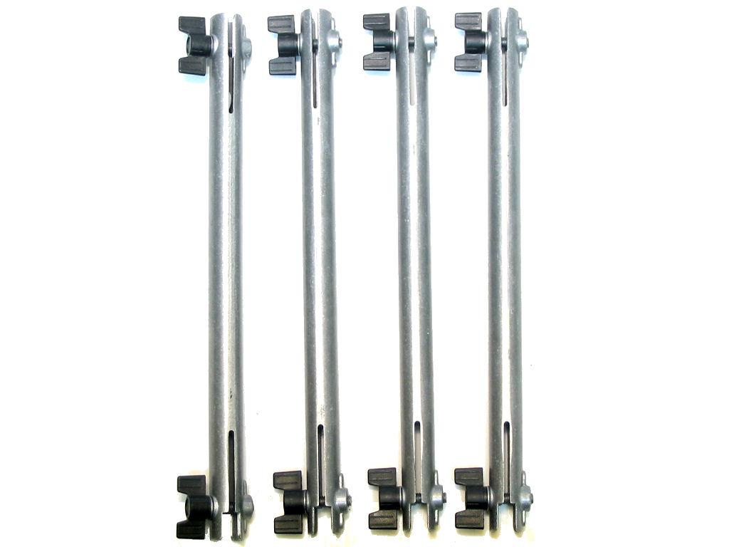 Tiges x4 en aluminium pour TIRAX Modele 86