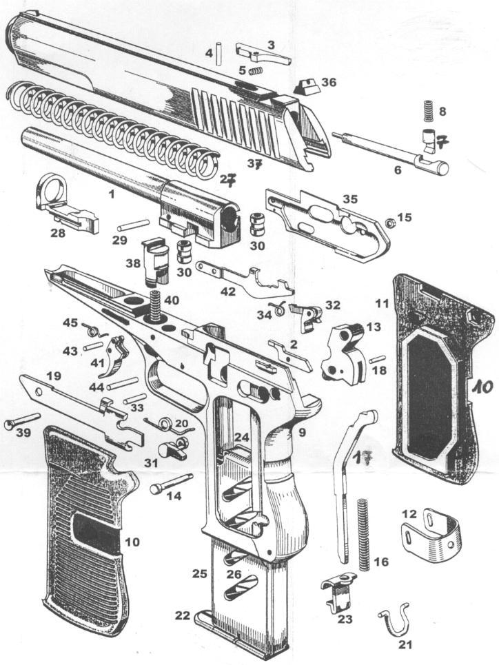 CZ modèle 52  Calibre 7,62Tokarev Pièces détachées - éclaté