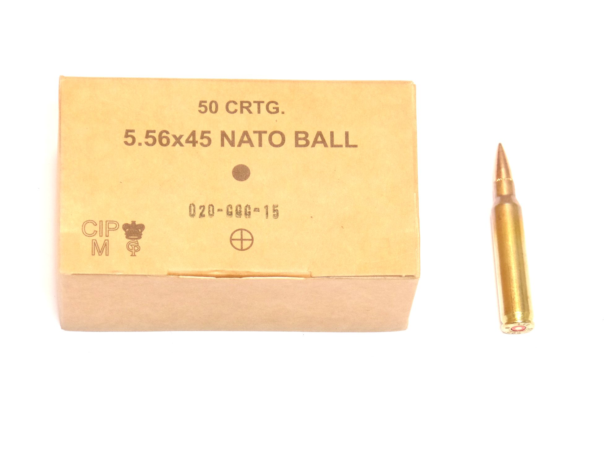 Munitions x50 calibre 5.56x45 (.223Remington)