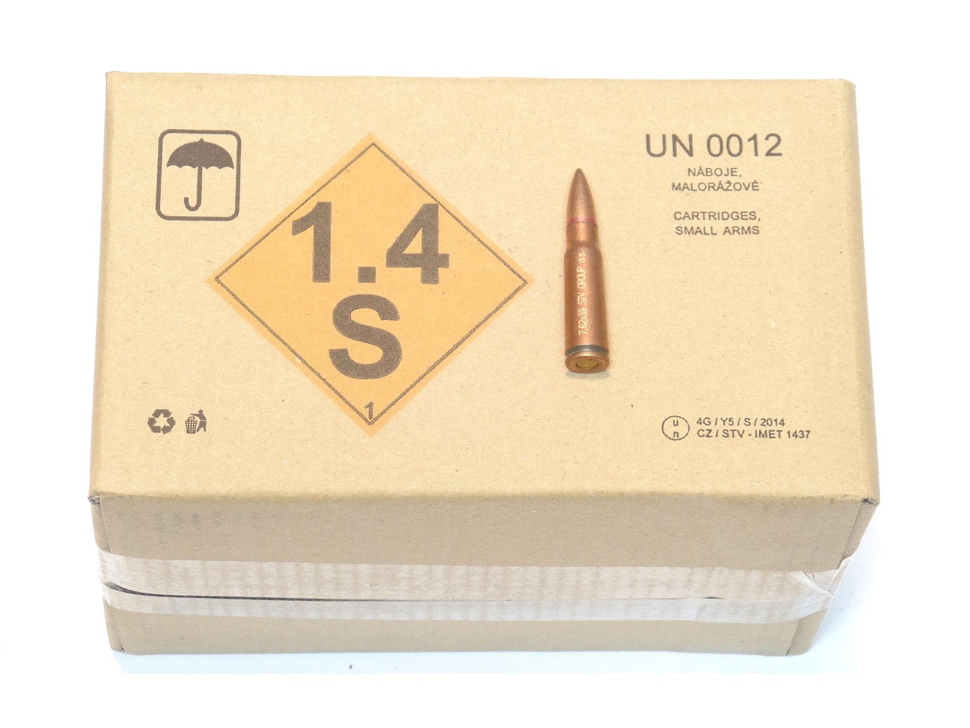 MUNITIONS x250 calibre 7.62x39 SURPLUS