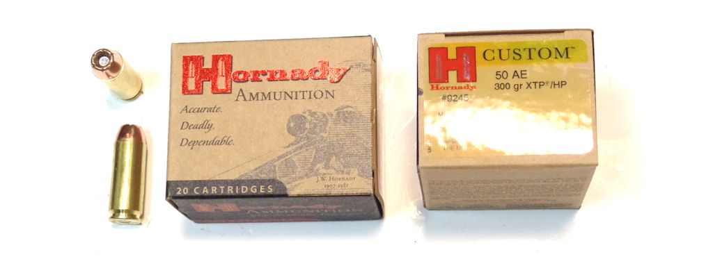 MUNITIONS x20 calibre .50AE HORNADY