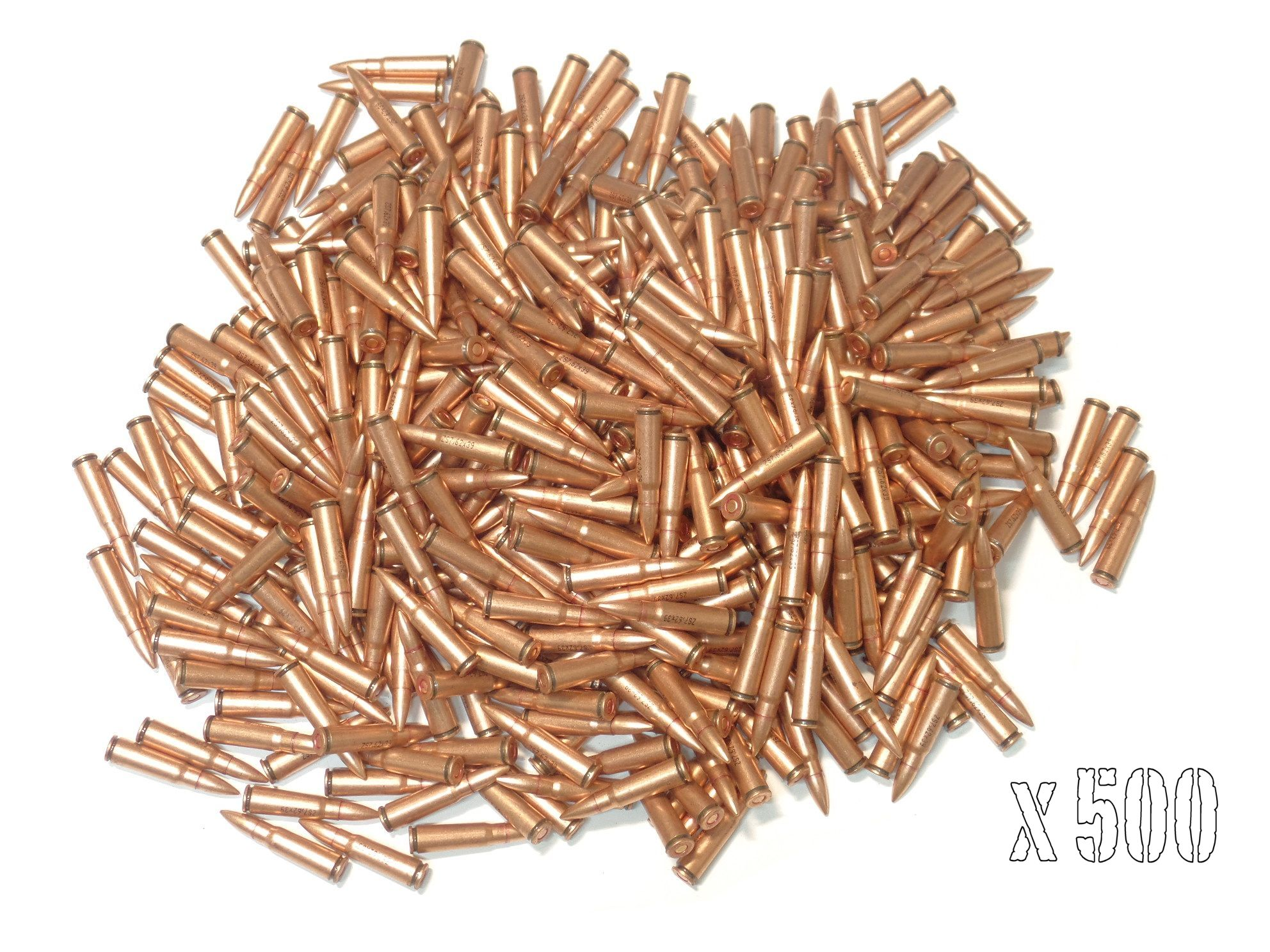 MUNITIONS x 500 calibre 7.62x39 SURPLUS