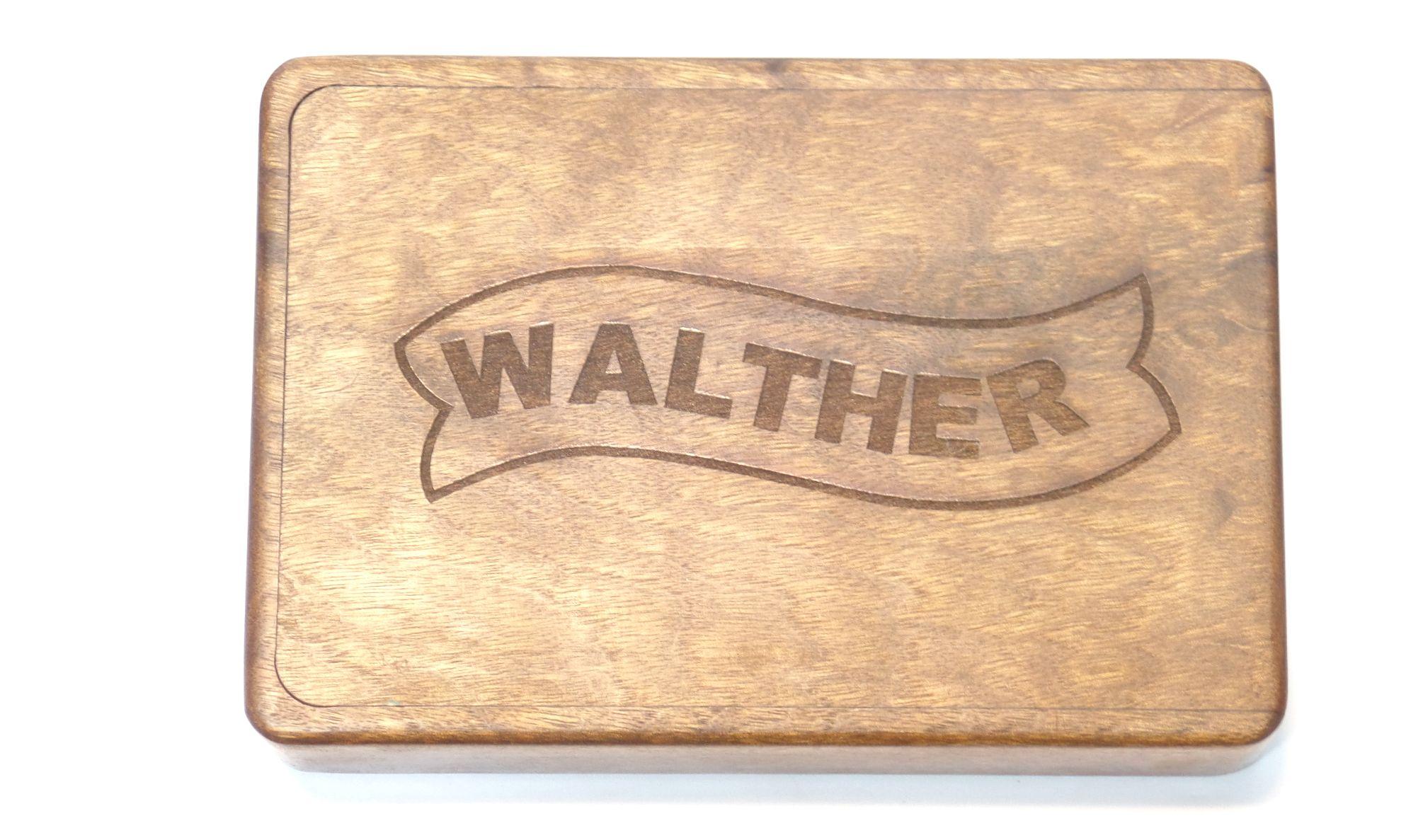 Coffret en noyer huilé WALTHER PP/PPK