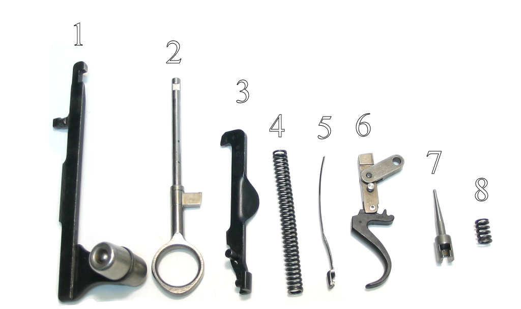 Schmidt Rubin K31 calibre 7.5x55 Pièces détachées - éclaté
