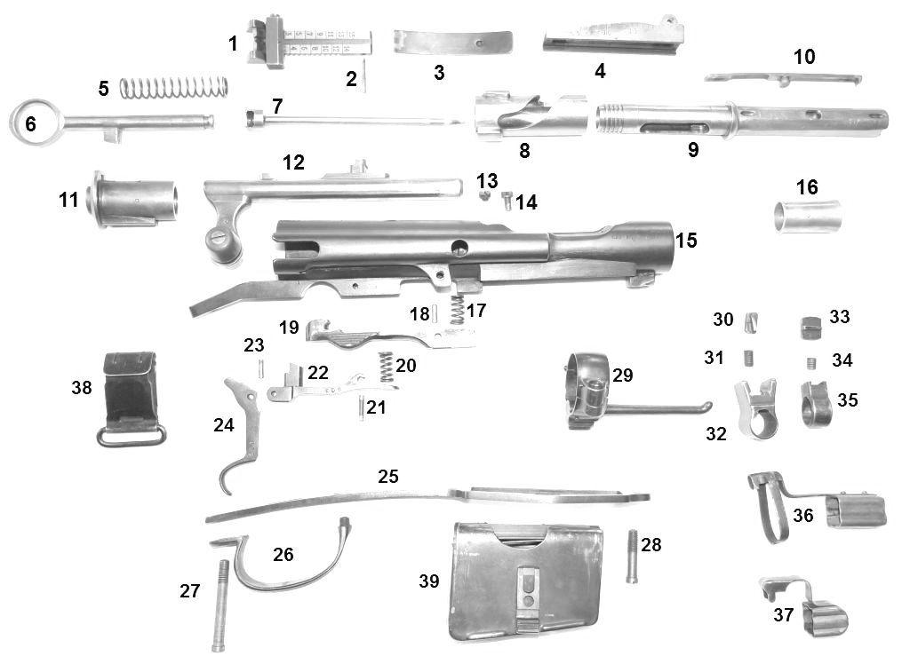 SCHMIDT RUBIN G11 - K11 Pièces détachées - éclaté